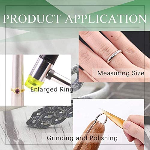 Ring Mandrel Plastic Ring Sizer Gauge Polished Agate Jewelry Cleaning Cloth Wood Ring Clamp Ring Sizer Buffing Bars Rubber Hammer Nrpfell 12Pcs Jewelry Ring Sizer Tools Set