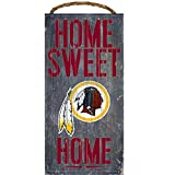 Washington Redskins Wood Sign - Home Sweet Home 6''x12''