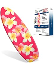 "Ezy Iron Padded Ironing Board Cover Thick Padding, Slashes Your Iron Time, Heat Reflective Fits Standard and Large Boards 15"" x 54"" Premium Heavy Duty Cover and Pad"