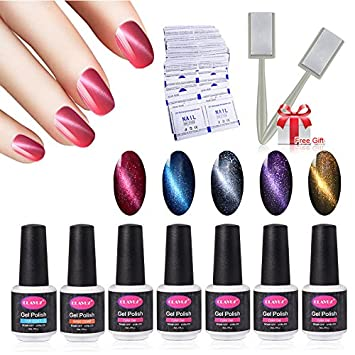 Amazon Clavuz Magnetic Nail Polish Set 5pcs Gel Polish With