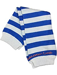 Blue/dark Blue Stripes Organic Cotton Baby Leg Warmers