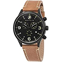 Brooklyn Watch Co. Chronograph Black Dial Men's Watch