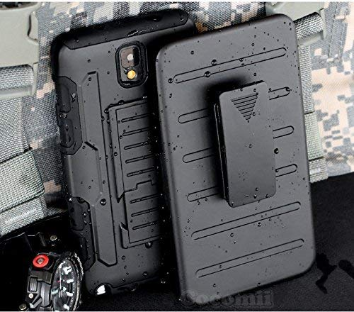 Cocomii Robot Armor Galaxy Note 3 Case New [Heavy Duty] Premium Belt Clip Holster Kickstand Shockproof Bumper [Military Defender] Full Body Dual Layer Rugged Cover for Samsung Galaxy Note 3 (R.Black)