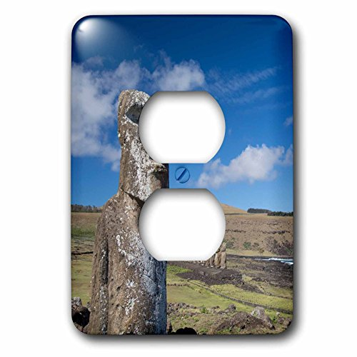 Danita Delimont - Statues - Chile, Easter Island, Rapa Nui NP, The traveler moi at park entry - Light Switch Covers - 2 plug outlet cover (Moi Components)