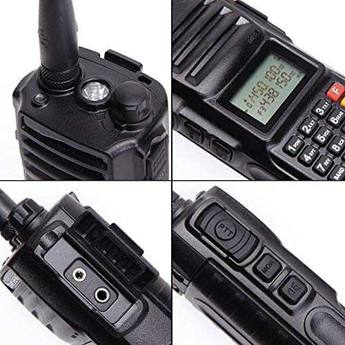 High Power 10W Tri-Band Ham Radio,Portable Long Range Walkie Talkies for Adults,4000mAh Rechargeable Li-ion Battery,200 Channel Two-Way Radios Built-in VOX Amateur Handheld Transceiver with Headset by FEILESS (Image #3)
