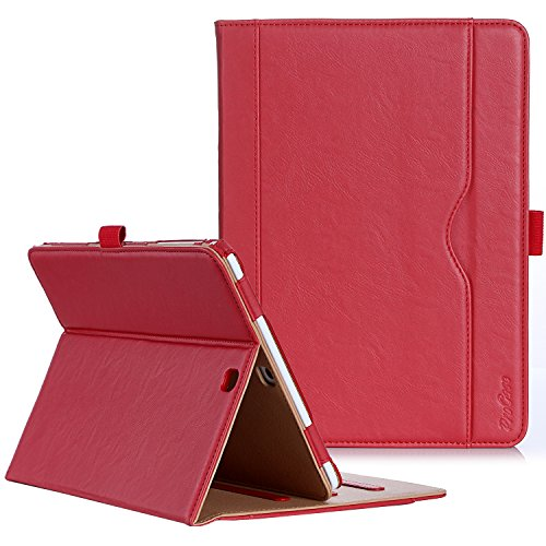 ProCase Samsung Galaxy Tab S2 9.7 Case - Leather Stand Folio Case Cover for Galaxy Tab S2 Tablet (9.7 inch, SM-T810 T815 T813) -Red