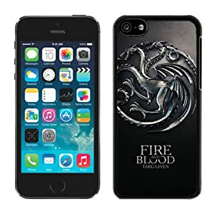 Game Of Thrones Fire And Blood Targaryen House Black Fantastic Design iPhone 5C Cover Case