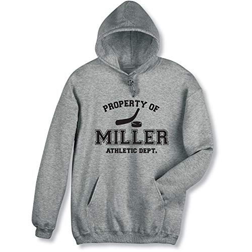 WHAT ON EARTH Men's Personalized Property of [Name] Athletic Dept. Hockey Shirt - Hooded Sweatshirt - ()