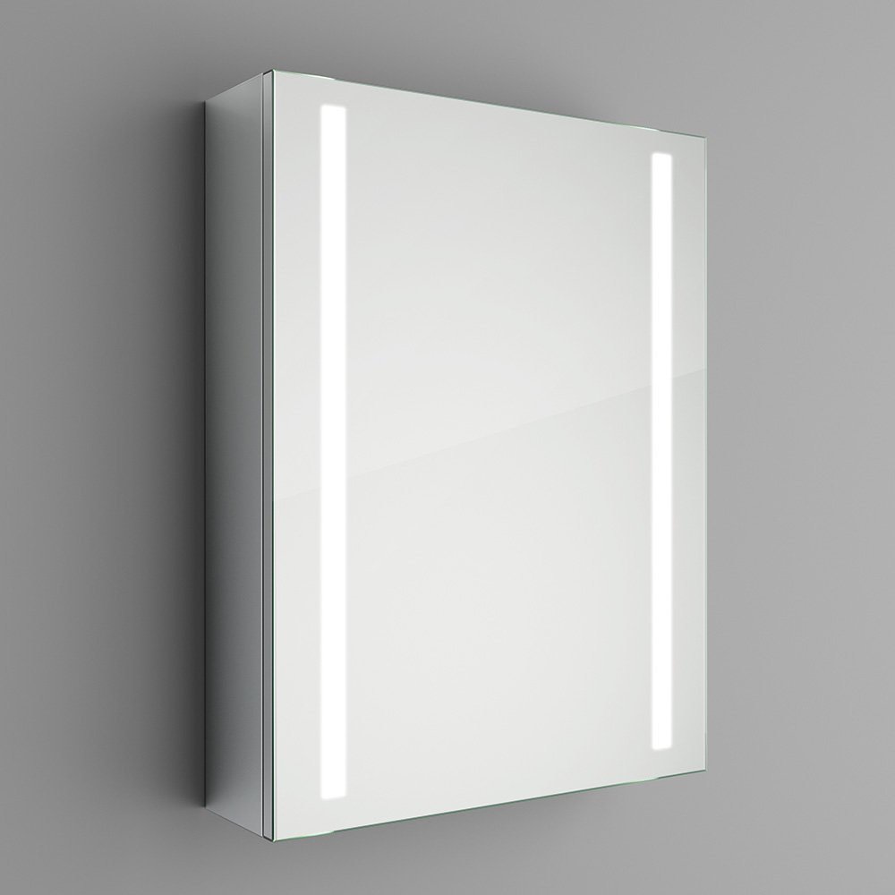 500 x 650 mm Illuminated LED Bathroom Mirror Cabinet with Motion ...