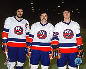 "Clark Gillies, Mike Bossy & Bryan Trottier New York Islanders NHL Action Photo (Size: 8"" x 10"")"