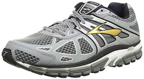 Brooks Men's Beast 14 Running Shoe Silver/Black/Gold Size 9.5 M US