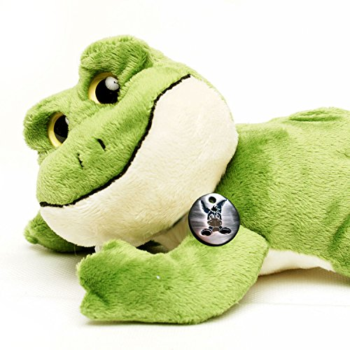 grenouille arboricole FLIPP couché 22 cm grenouille vert - jouet en peluche de Kuscheltiere.biz