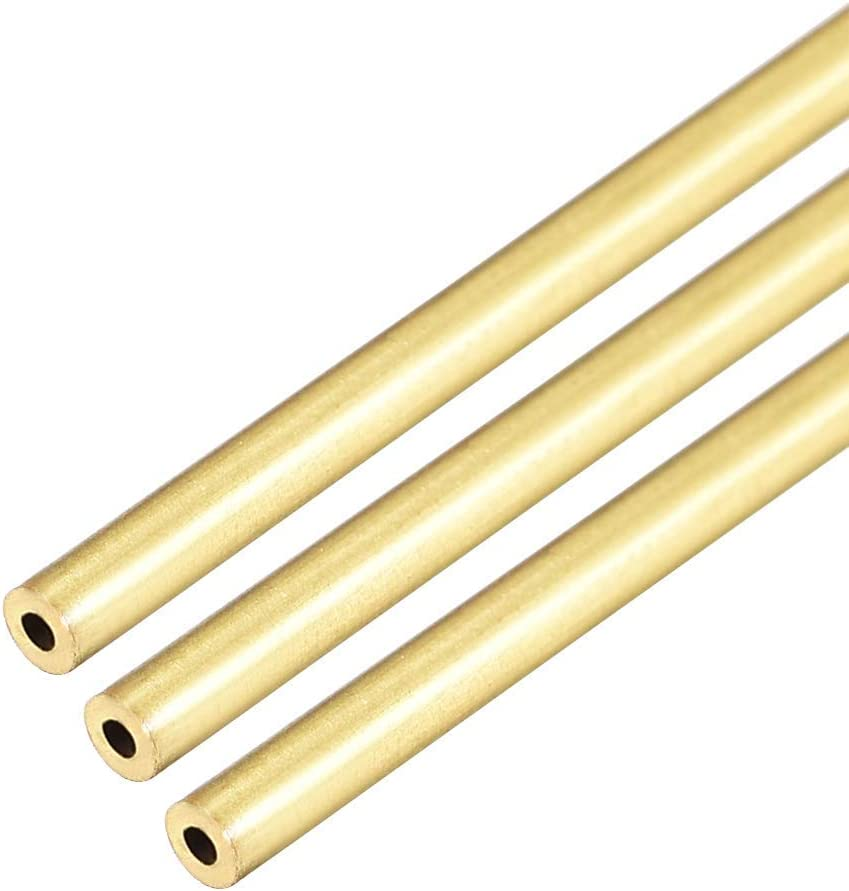 39.4inch 0.02inch Total Length 1m 0.08inch Wall Thickness:0.5mm 2mm MHUI Copper Round Capillary H62 Tube Brass Hollow Tubing Outer Diameter