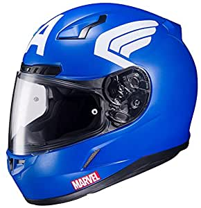 HJC CL-17 Motorcycle Helmet Marvel Series Captain America Blue Large