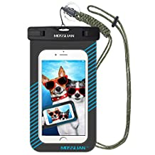 Waterproof Case: MOSSLIAN Waterproof Case Pouch for iPhone 7, 6s, 6, 5, 4, Samsung Gaxaly S6 Edge, S6, S5, S4, HTC, LG, HUAWEI Upto 6 Inches