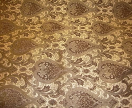 (upholstery Chenille Monte Cristo Pecan Damask Fabric with Gold fabrics 55