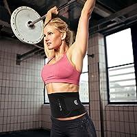 LHOTSEE Waist Trimmer Ab Belt, Weight Loss Waist Trainer-...