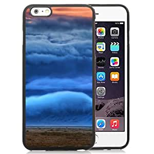 NEW Unique Custom Designed iPhone 6 Plus 5.5 Inch Phone Case With Mountain Covered In Clouds_Black Phone Case