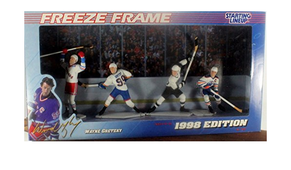 1998 Starting Lineup Freeze Frame Messier Ozolinish Avalanche Canucks