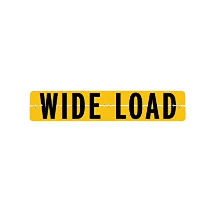 Wide Load Sign >> Vulcan Brands Hinged Aluminum Wide Load Sign 12 X 60