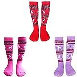 Girls Ski Socks 3 Packs Thicken Warm Winter
