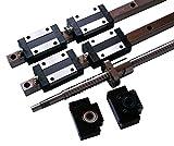 Joomen CNC 20mm Linear Guideway rail RM2005 ballscrew 500mm Linear Motion Kit