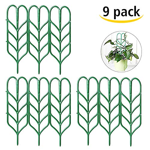 - Seway Garden Trellis, Plant Trellis DIY Potted Plant Support, Leaf Shape Mini Climbing Plants Flower Vegetables Rose Vine Pea Ivy Cucumbers Pots Support, 4 16
