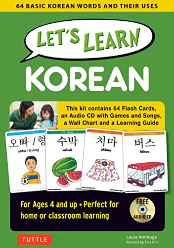 Let's Learn Korean Kit: 64 Basic Korean Words and Their Uses (Flashcards, Audio CD, Games & Songs, Learning Guide and Wall Chart) by Tuttle Publishing