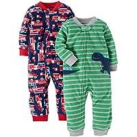Carter's Baby Boys' 2-Pack Fleece Footless Pajamas