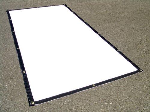 18 Oz Black Vinyl Polyester - Vinyl Tarp 5' x 9' Heavy Duty Waterproof