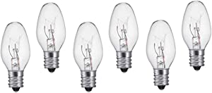 Night Light Bulb Warm White Replacement Bulbs 4W 120V - 6 Pack