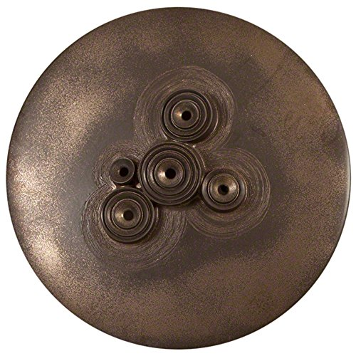 Studio A Wall Mounted Galileo Disc Reactive Glaze, Large, Bronze by Studio A