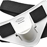 FLADEN Quality Heavy Duty Plastic Sea Fishing Rod Butt Pad - Padded and Curved Waist Belt with Removable Pin - White [25-1240]