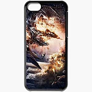 Personalized iPhone 5C Cell phone Case/Cover Skin Transformers 4 artwork movies Black