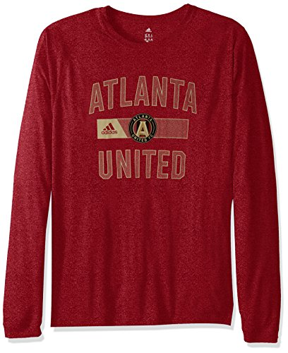MLS Atlanta United Adult Men Forward L/S Climalite Tee,Small,Red
