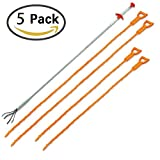#10: 5 Pack Drain Snakes, Hair Sink and Drain Clog Cleaning Relief Remover tool, Barbed Gripper Sink Dredge Pipeline Hook Cleaner (1 Stainless Steel and 4 Plastic)