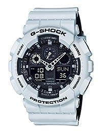 Casio Men's G-Shock GA100L-7A White Silicone Quartz Watch