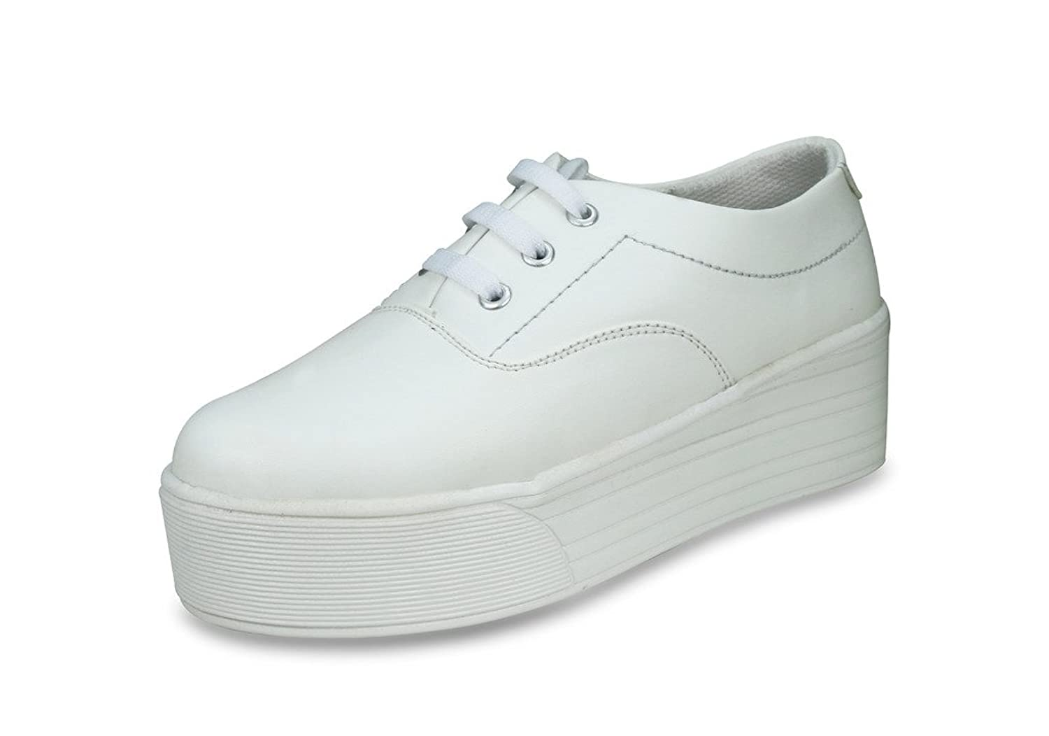Beonza Women Premium White Sneakers casual shoes: Buy Online at Low Prices  in India - Amazon.in