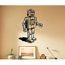Analog Robot Wall Decal Cyber Vinyl Sticker Housewares Machine Home Interior Children Room Decor Door Sticker (19r01t)