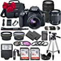 Canon EOS Rebel T6 DSLR Camera Bundle Canon EF-S 18-55mm f/3.5-5.6 is II Lens + Canon EF 75-300mm f/4-5.6 III Lens + 2pc SanDisk 32GB Memory Cards + Accessory Kit