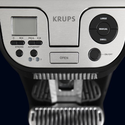 Best of KRUPS KM9008 Cup on Request Programmable Coffee Maker with Precise Warming Technology, 12-Cup, Black
