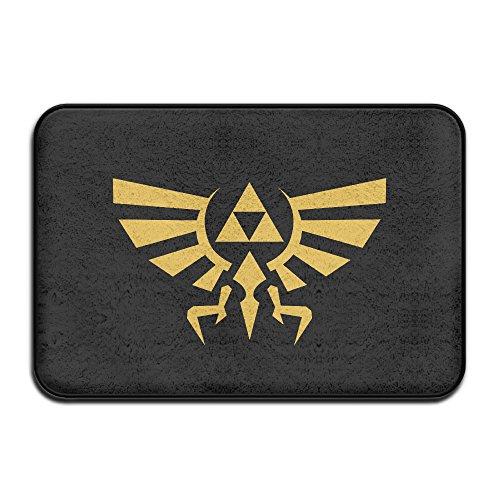 Legend Of Zelda Skyward Sword Triforce Logo Non-Slip Entrance Indoor/Outdoor/Front Door/Bathroom Mats - Sims Snowboarding 3