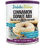 Diabetic Kitchen Cinnamon Donut Mix Is Sugar-Free, Low-Carb, Keto-Friendly, Gluten-Free, 8g Fiber, Non-GMO, No Artificial Sweeteners or Sugar Alcohols Ever