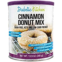 Diabetic Kitchen Cinnamon Donut Mix Is Sugar-Free, Low-Carb, Keto-Friendly, Gluten-Free, 8g Fiber, Non-GMO, No Artificial Sweeteners or Sugar Alcohols Ever