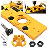 35mm Concealed Hinge Jig Drill Guide Cutter Boring Hole Bit Set