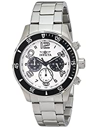 Invicta Men's 12912 Pro Diver Chronograph White Textured Dial Stainless Steel Watch