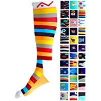Compression Socks (1 pair) for Women & Men by A-Swift - Graduated Athletic Fit for Running, Nurses, Flight Travel, Skiing & Maternity Pregnancy - Boost Stamina & Recovery