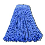 Impact 26524 Valumax Screw-Type Regular Cut-End Blend Wet Mop Head, 24 oz, Blue (Case of 12)