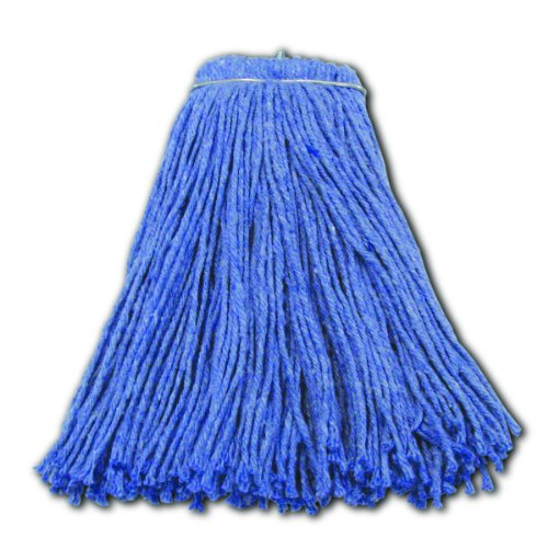Impact 26524 Valumax Screw-Type Regular Cut-End Blend Wet Mop Head, 24 oz, Blue (Case of 12) by Impact Products