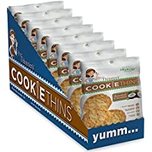 Mrs. Thinster's Cookie Thins, Toasted Coconut Flavor, Thin Crunchy Cookies, Non-GMO, No Artificial Flavors, Colors, Preservatives, Peanut-Free, 1.5oz Bag, Pack of 24